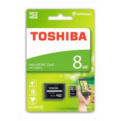 Tarjeta Memoria Micro SD HC 8GB Toshiba M102 Clase 4 + Adaptador