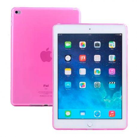 Funda TPU iPad Air 2 / iPad 6 Silicona flexible Rosa Semi transparente