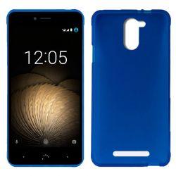 Funda Trasera TPU Mate Lisa para BQ Aquaris U Plus Silicona Flexible Azul