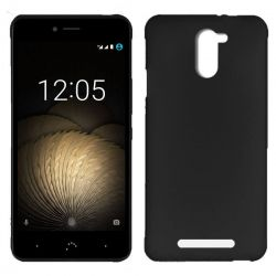 Funda Trasera TPU Mate Lisa para BQ Aquaris U Plus Silicona Flexible Negro