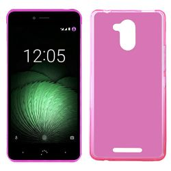 Funda Trasera TPU Mate Lisa para BQ Aquaris U Plus Silicona Flexible Rosa