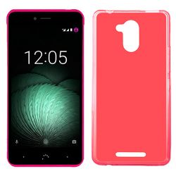 Funda Trasera TPU Mate Lisa para BQ Aquaris U Plus Silicona Flexible Rojo