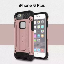 Funda tipo Tough Armor Tech todo terreno para iPhone 6 Plus Oro Rosa