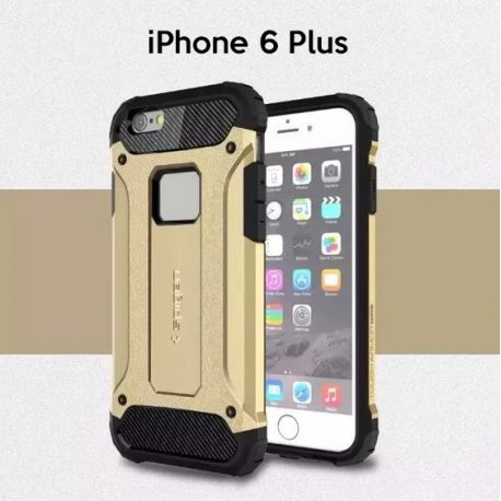 Funda tipo Tough Armor Tech todo terreno para iPhone 6 Plus Oro