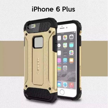 Funda tipo Tough Armor Tech todo terreno para iPhone 6 Plus Oro