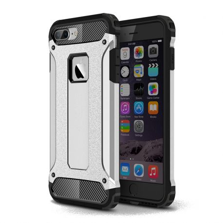 Funda tipo Tough Armor Tech todo terreno para iPhone 7 Plus Plata