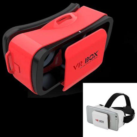 Gafas Realidad Virtual 3D VR Box 11 Mini móviles Android y Iphone Rojo