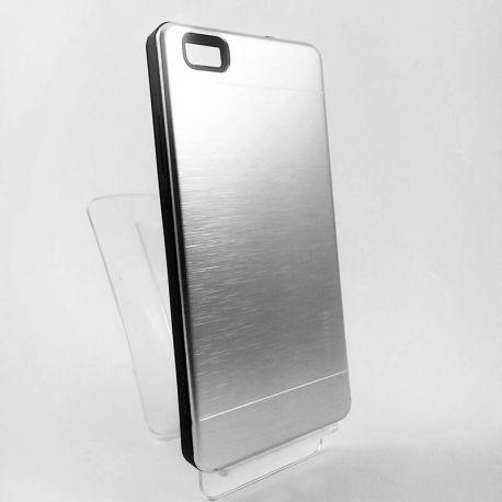 Funda trasera de Aluminio y TPU YouYou Plata para Huawei P8 Lite