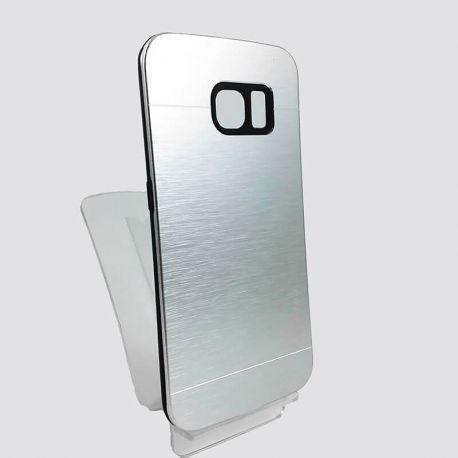 Funda trasera de Aluminio YouYou Plata para Samsung Galaxy S6 Edge