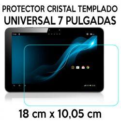 Protector Cristal Templado Universal Tablet de 7 Pulgadas 18 x 10,05cm