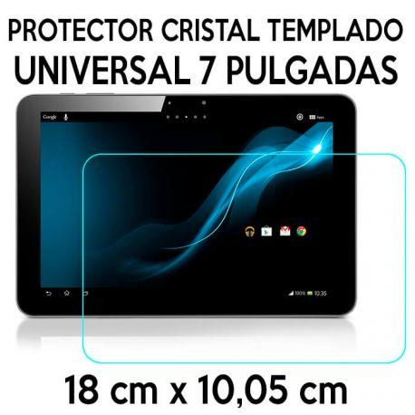 Protector de Cristal Templado Universal para Tablet de 7 Pulgadas 18 x 10,05