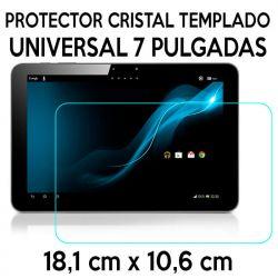 Protector Cristal Templado Universal Tablet de 7 Pulgadas 18,1 x 10,6