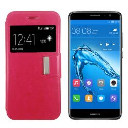 Funda libro Flip Cover con Tapa Ventana Soporte Huawei Nova Plus Rosa