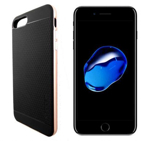 Funda Bumper PC + TPU tipo Neo Hybrid para iPhone 7 Plus Oro Rosa