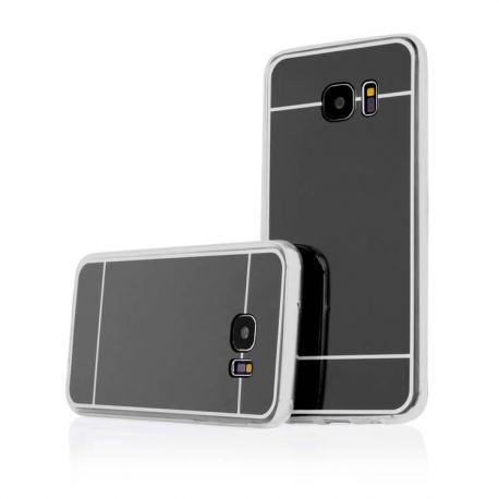 Funda Mirror Gel TPU efecto Espejo Samsung Galaxy S7 Edge Negro