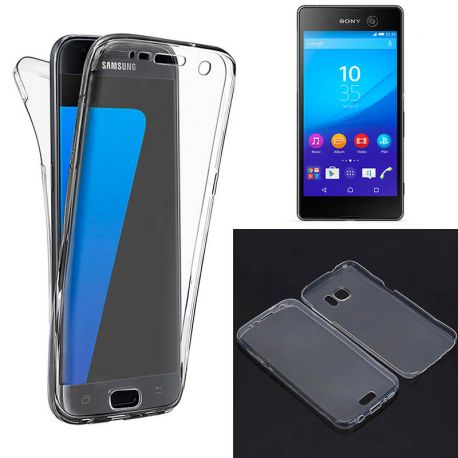Funda TPU Doble Frontal Trasera 360 Ultra Thin Fina Sony Xperia M5
