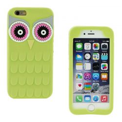 Funda 3D de Silicona Animal Buho Verde para Iphone 6 Plus / 6S Plus