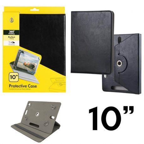 Funda Libro Universal Giratoria 360 Soporte, Tablets 10 pulgadas Negro