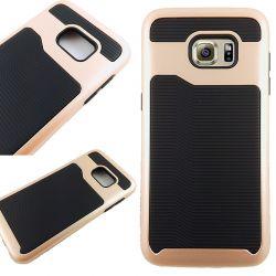 Funda de TPU + PC Hybrid con bumper Samsung Galaxy S7 Edge Dorado