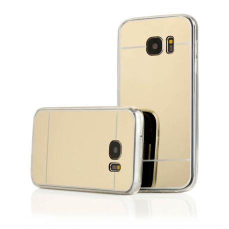 Funda Mirror Gel TPU efecto Espejo Samsung Galaxy S7 Dorado