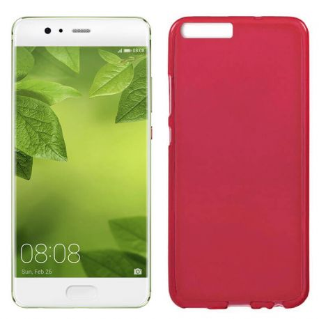 Funda TPU Mate Lisa para Huawei 10 Plus Silicona Flexible Rojo