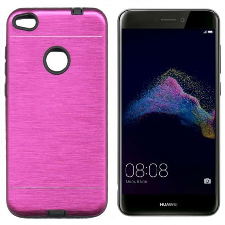 Funda trasera de Metal, Aluminio y TPU para Huawei P8 Lite 2017 Rosa