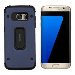 Funda trasera de Metal y TPU Motomo Shell Azul, Samsung Galaxy S7 Edge