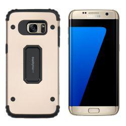 Funda trasera Metal y TPU Motomo Shell Dorado, Samsung Galaxy S7 Edge