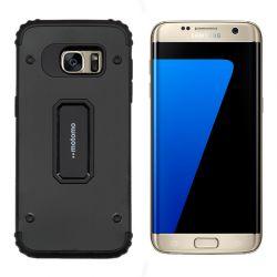 Funda trasera Metal y TPU Motomo Shell Negro, Samsung Galaxy S7 Edge