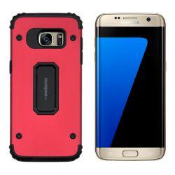 Funda trasera Metal y TPU Motomo Shell Rojo, Samsung Galaxy S7 Edge