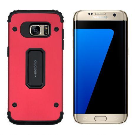 3a58b00e67d Funda trasera Metal y TPU Motomo Shell Rojo, Samsung Galaxy S7 Edge