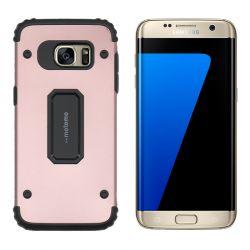 Funda trasera Metal y TPU Motomo Shell Oro Rosa Samsung Galaxy S7 Edge