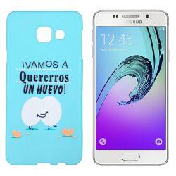 Funda de TPU para Samsung Galaxy A3 2016 frase Huevo Silicona Azul