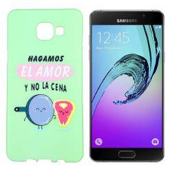 Funda de TPU para Samsung Galaxy A5 2016 frase El Amor Silicona Verde