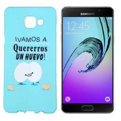 Funda de TPU para Samsung Galaxy A5 2016 frase Huevo Silicona Azul