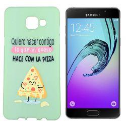 Funda de TPU para Samsung Galaxy A5 2016 frase Pizza Silicona Verde