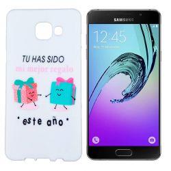 Funda de TPU para Samsung Galaxy A5 2016 Frase Regalo Silicona Blanco