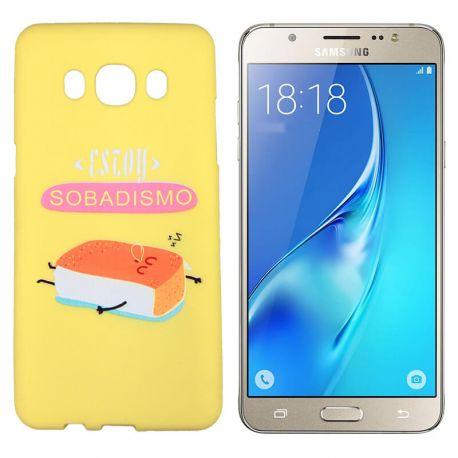 Funda TPU Samsung Galaxy J5 2016 frase Sobadisimo Silicona Amarillo
