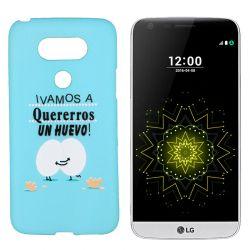 Funda de TPU para LG G5 frase y dibujo Huevo Silicona Azul