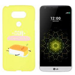 Funda de TPU para LG G5 frase y dibujo Sobadisimo Silicona Amarillo