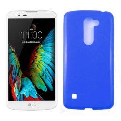 Funda de TPU Mate Lisa para LG K10 K420N Silicona Flexible Azul