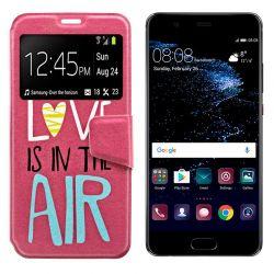 Funda libro Flip Cover Tapa y Ventana Huawei P10 Lite Dibujo Love