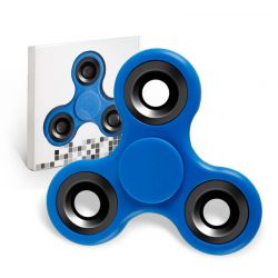 Fidget Spinner de Colores, Peonza dedo de tres puntas Antiestrés Azul
