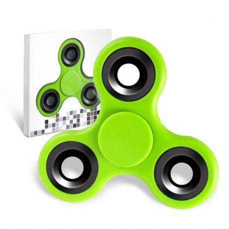Fidget Spinner de Colores, Peonza dedo de tres puntas Antiestrés Verde