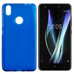 Funda Trasera TPU Mate BQ Aquaris X / X Pro Silicona Flexible Azul
