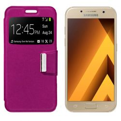 Funda Flip Cover con Tapa y Ventana para Samsung Galaxy A3 2017 Rosa