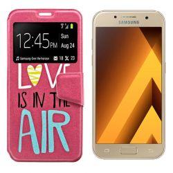 Funda libro Tapa y Ventana Samsung Galaxy A3 2017 Dibujo Love