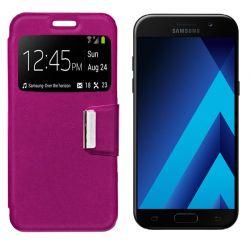 Funda Flip Cover con Tapa y Ventana para Samsung Galaxy A5 2017 Rosa