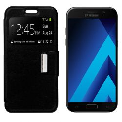 Funda Flip Cover con Tapa y Ventana para Samsung Galaxy A5 2017 Negro