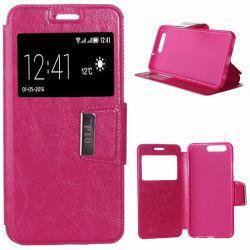 Funda libro Flip Cover Tapa, Ventana y Soporte Huawei P10 Rosa